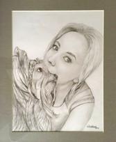 Janka so psíkom 40x50cm