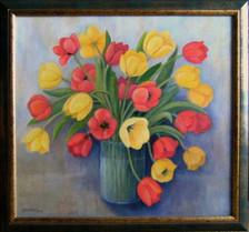 Kytica tulipánov 55x50cm