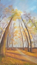 Stromy a nebo 45x65cm