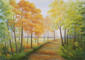 Prechádzka lesom 70x50cm