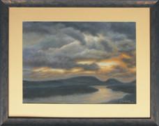Západ slnka nad Dunajom 61x49