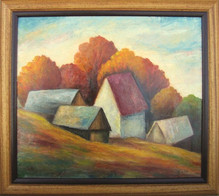 Jeseň v Detvianskej Huti 45x40cm