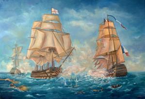 Bitka pri Trafalgare 160x110cm