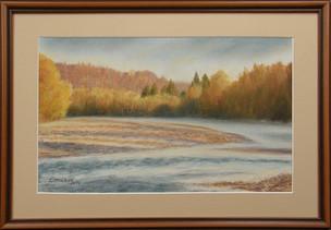 Jeseň pri rieke 52x36cm