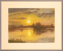 Západ slnka v Adamove 53x44cm