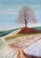 Strom v poli 38x52cm