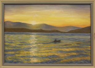 Západ slnka pri mori 64x47cm