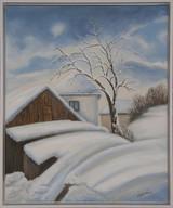 Hodruša v zime 53x63cm