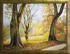 Prechádzka lesom 80x60cm