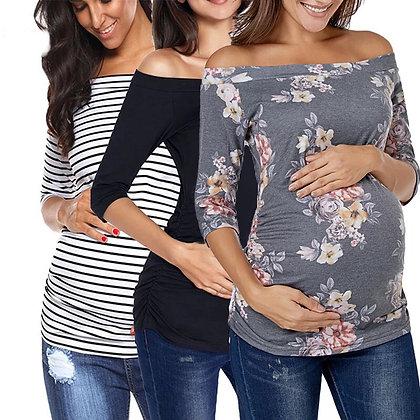 Blusa de maternidad sin hombros