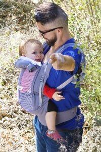 Portabebé ergonómico gris bolsa gris by Je porte mon bebé