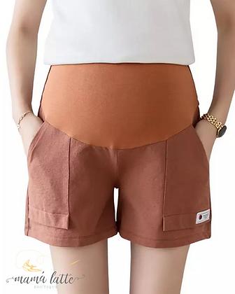 Shorts de maternidad terracota