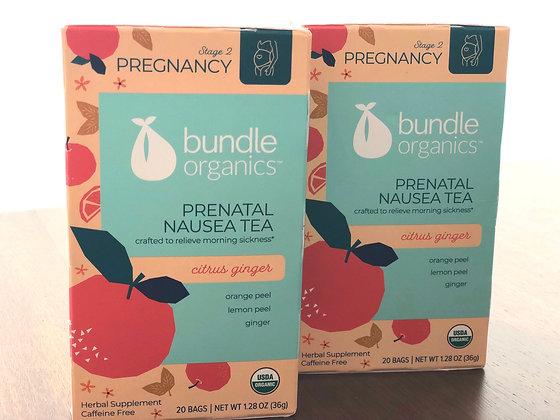 Té bundle organics para náusea durante el embarazo