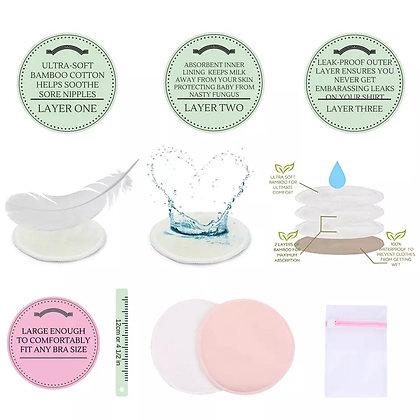 Pads protectores de lactancia reutilizables