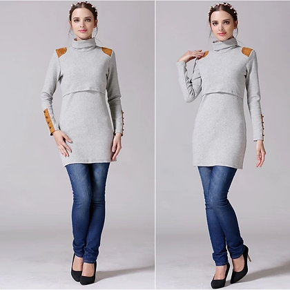 Suéter lactancia gris
