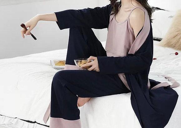 Set pijama 3 piezas maternidad y lactancia