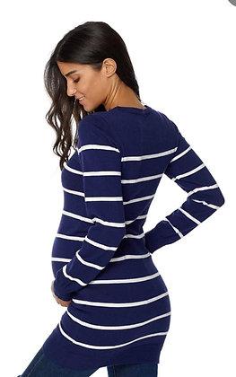 Suéter maternidad largo