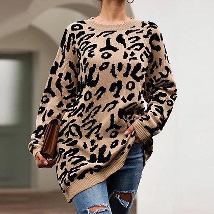 Suéter print leopardo