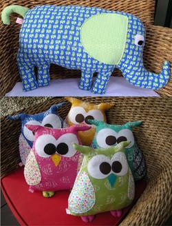 Elephant & Owl Softies