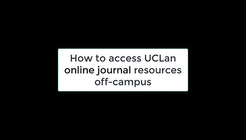 How to access UCLan online journal resources off-campus