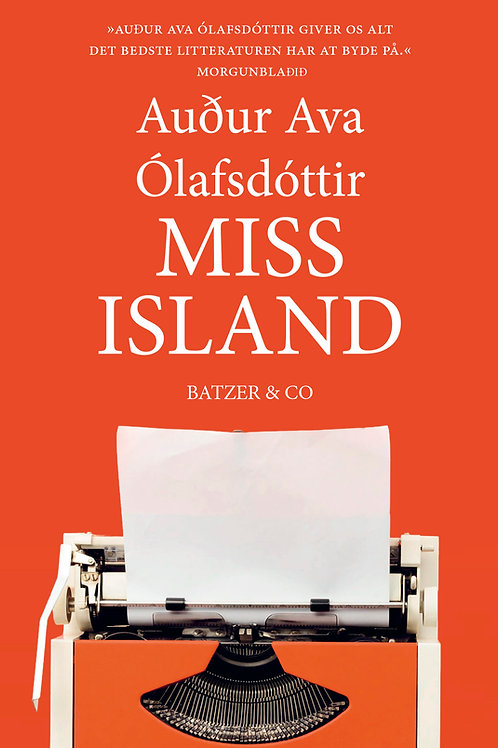 Miss Island, Audur Ava Olafsdottir