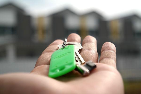 Schlüsselübergabe: Check-In.