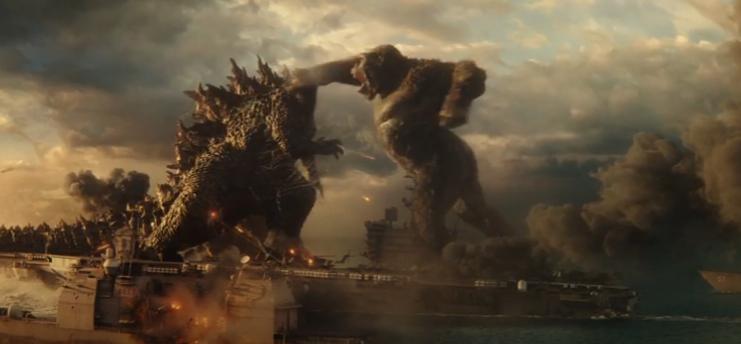Kong punches Godzilla