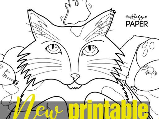 Halloween kitty - Printable