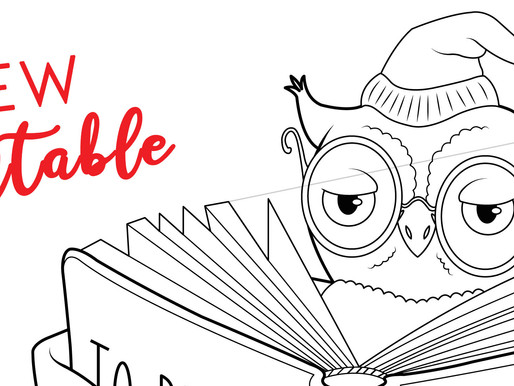 Reading Owl - Printable
