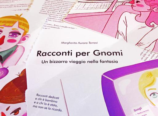 """Progettazione """"Racconti per gnomi"""" - portfolio grafico 2020"""