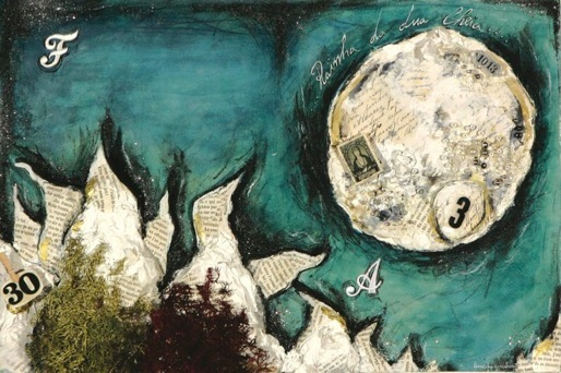 A princesa que veio da lua 1, tecnica mista s papel, 28x42, 2007