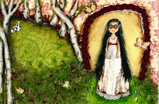 A princesa que veio da lua 5, tecnica mista s papel, 28x42, 2007
