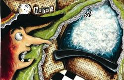 A princesa que veio da lua 4, tecnica mista s papel, 28x42, 2007