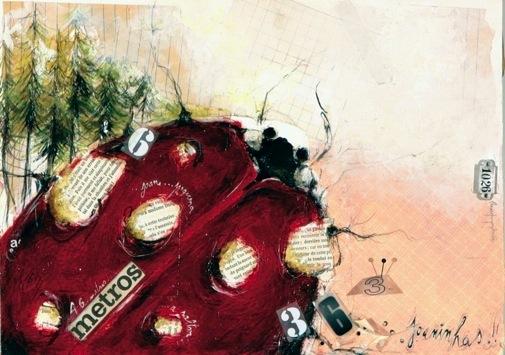 No pinhal,  Tecnica mista s papel, 28x42 cm, 2007