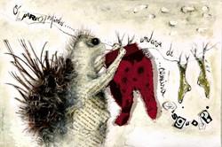 Se os bichos se vestissem como gente, tecnica mista s papel, 25x35 cm, 2007