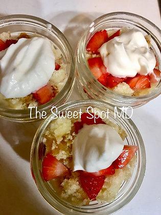 Strawberry Short Cake Dessert Jar
