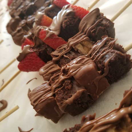 Chocolate dessert kabobs