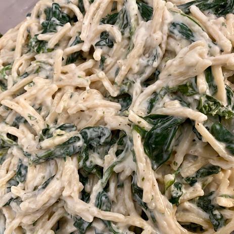 Spinach Alfredo Pasta