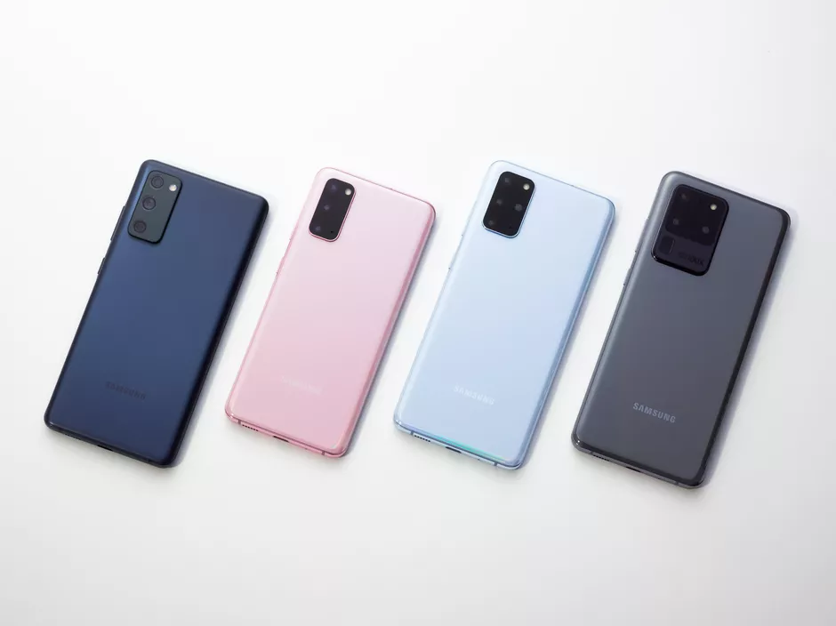 From Left to Right: S20 FE, S20, S20+, S20 Ultra