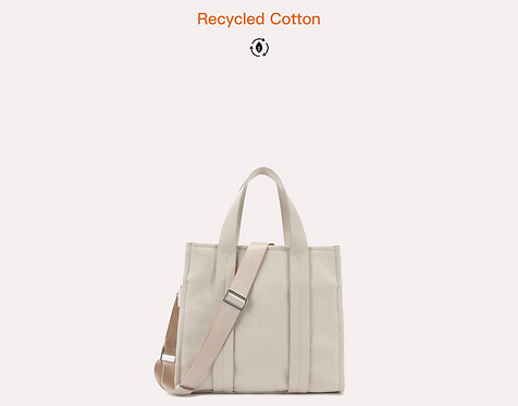 Recycled Cotton Canvas tote bag front view