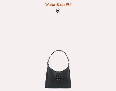 Black vegan water base polyurethane crossbody bag front view