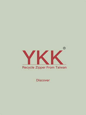 Recycled YKK zipper swatches