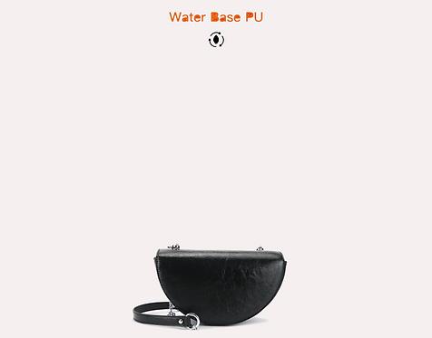 water base PU vegan leather crossbody black
