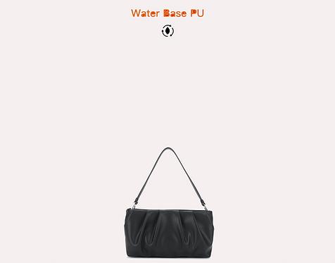 water base vegan leather baguette black