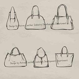 Autron handbag design hand draw