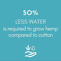 50%+LESS+WATER+is+required+to+grow+hemp+
