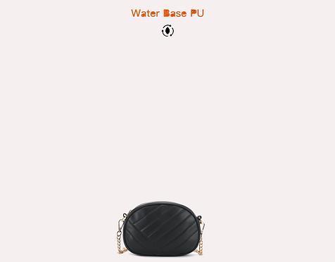 Black water base PU crossbody bag