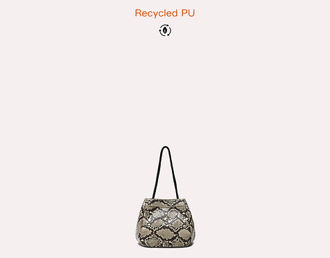 Python recycled vegan leather polyurethane mini crossbody bag front view