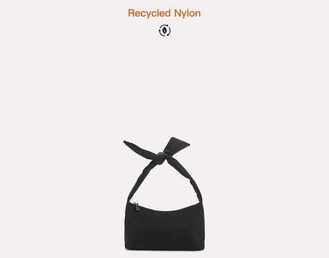 Recycled nylon crossbody bag front view