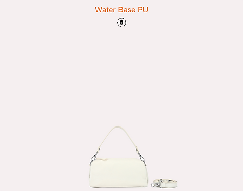 off white baguette bag with long strap vegan leather